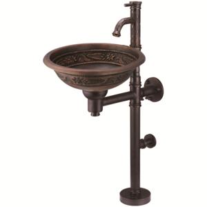 Медная раковина Bronze de Luxe 10108 AORB