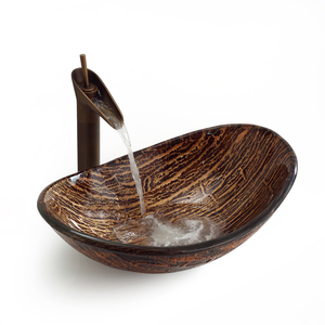 Раковина из стекла Bronze de Luxe T12*L560*W360*H165mm