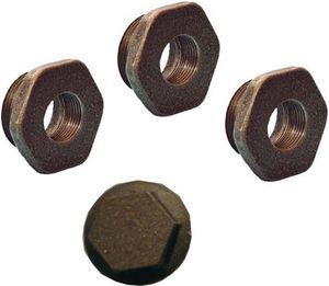 Комплект переходников и заглушек на 1 радиатор (3 переходника + 1 заглушка)
