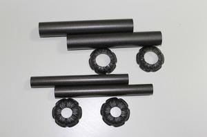 Комплект декоративных трубок и розеток D25/L160 мм Carlo Poletti антрацит retro (комплект)