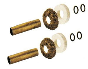 Комплект декоративных трубок и розеток D18/L160 мм Carlo Poletti латунь retro (комплект)