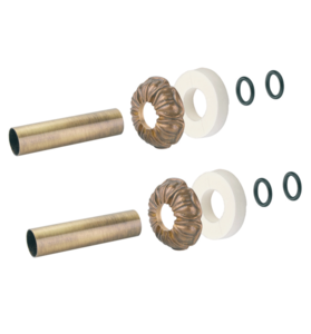 Комплект декоративных трубок и розеток D25/L160 мм Carlo Poletti латунь retro (комплект)