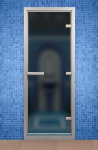 Дверь в хаммам Bronze de Luxe 690x1890 мм матовое стекло