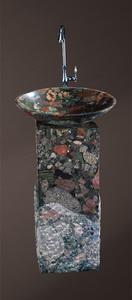 Раковина из натурального камня Bronze de Luxe XB602 с пьедесталом